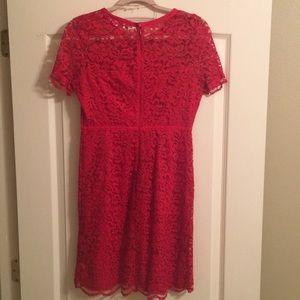 Elle Dresses - Elle: Red Lace Dress